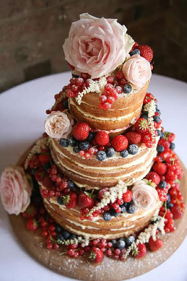 shustoke farm barns wedding flowers passion for flowers naked cake pink roses