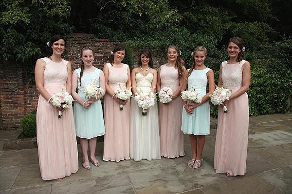 shustoke farm barns wedding flowers passion for flowers pastel colour bridesmaids bouquets