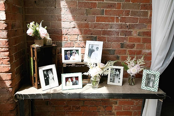 shustoke farm barns wedding flowers passion for flowers photo table at wedding