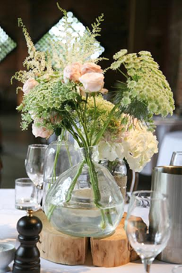 Summer Rustic Wedding Flowers At Shustoke Farm Barns