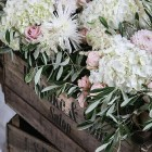 shustoke farm barns wedding flowers passion for flowers rustic vintage wooden crates with wild flowers