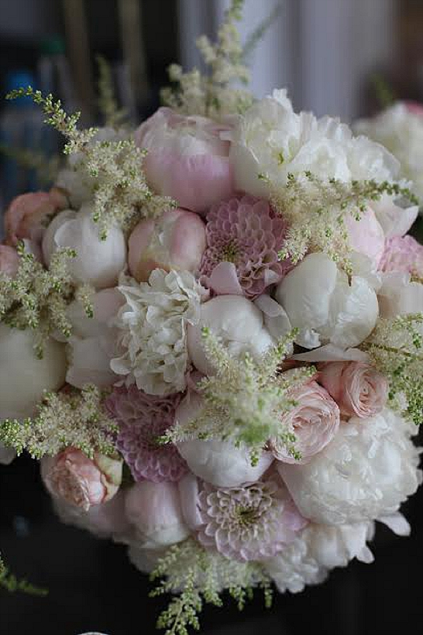 shustoke farm barns wedding flowers passion for flowers white peonies pink wizard of oz dahlias astilbe