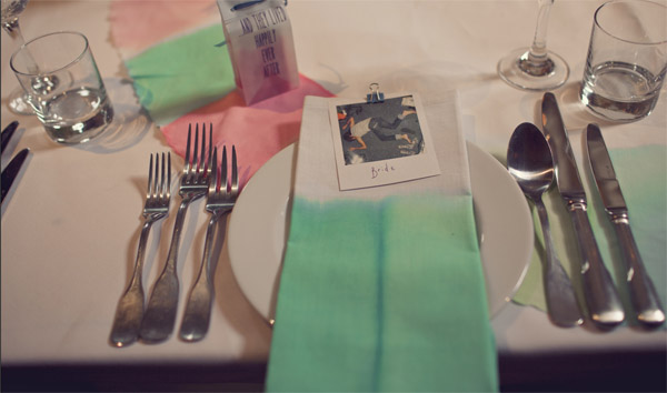 water-colour-wedding-theme-napkins-dipped-in-dye