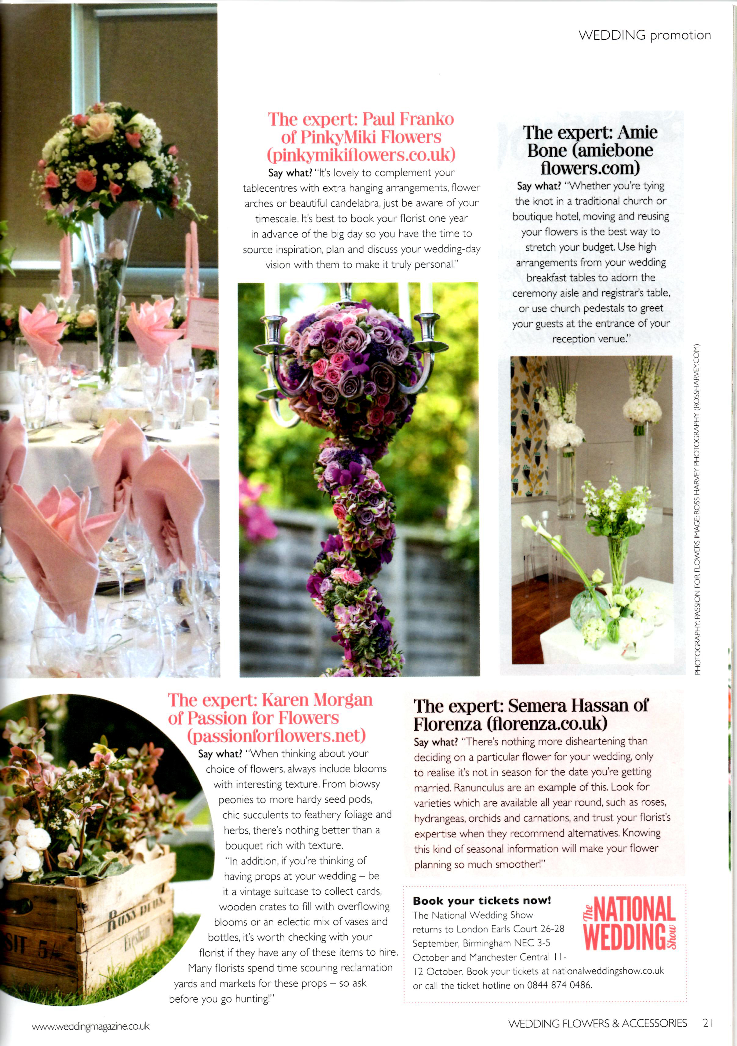 passion for flowers featured in wedding flowers magazine passion for flowers. Black Bedroom Furniture Sets. Home Design Ideas