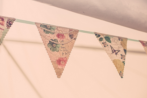 wroxall abbey wedding bunting