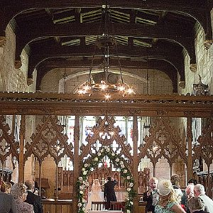 wroxall abbey wedding flowers church wrens cathedral flower arch
