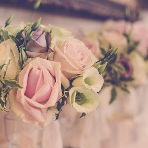 wroxall abbey wedding flowers vintage glamour buquets dusky pink roses