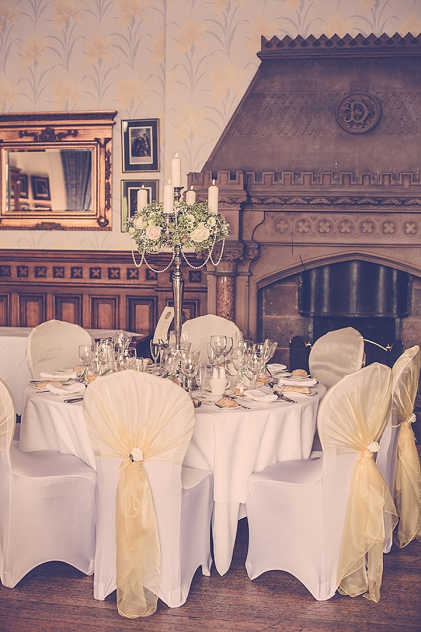 wroxall abbey wedding flowers vintage glamour candelabra