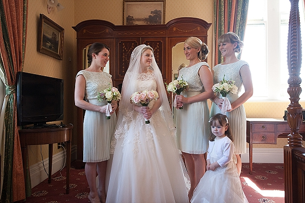 wroxall abbey wedding flowers vintage glamour (light pink rose bouquets