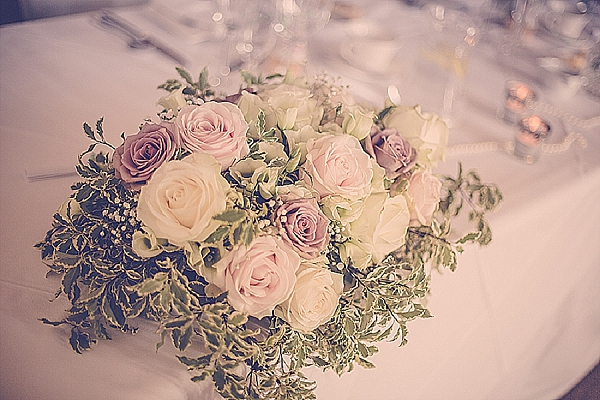 wroxall abbey wedding flowers vintage glamour top table