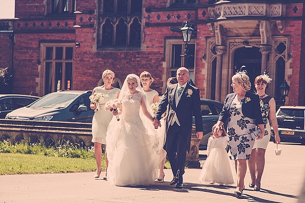 wroxall abbey wedding flowers walking to church