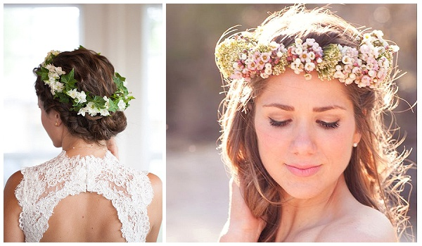 flower crowns wedding hair flowers pretty delicate