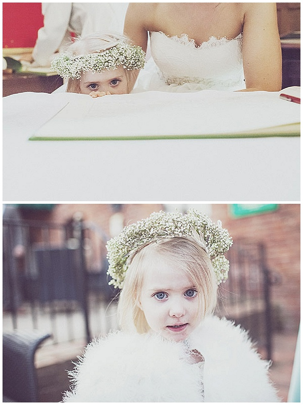 flower crowns young flower girls bridesmaids gypsophila