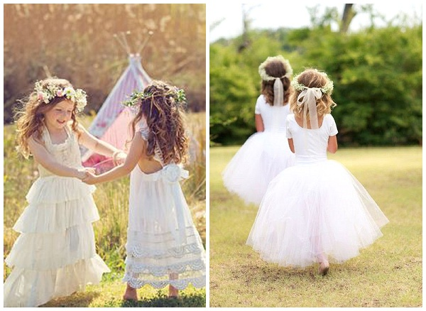 flower crowns young flower girls bridesmaids