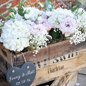 packington moor wedding flowers passion for flowers flowers in wooden crates