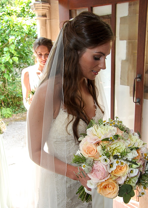 peach wedding bouquets whimsical country garden hampton manor passion for flowers