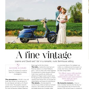 LEANNE & DAVID'S RUSTIC ELEGANT WEDDING FEATURED IN WEDDING MAGAZINE