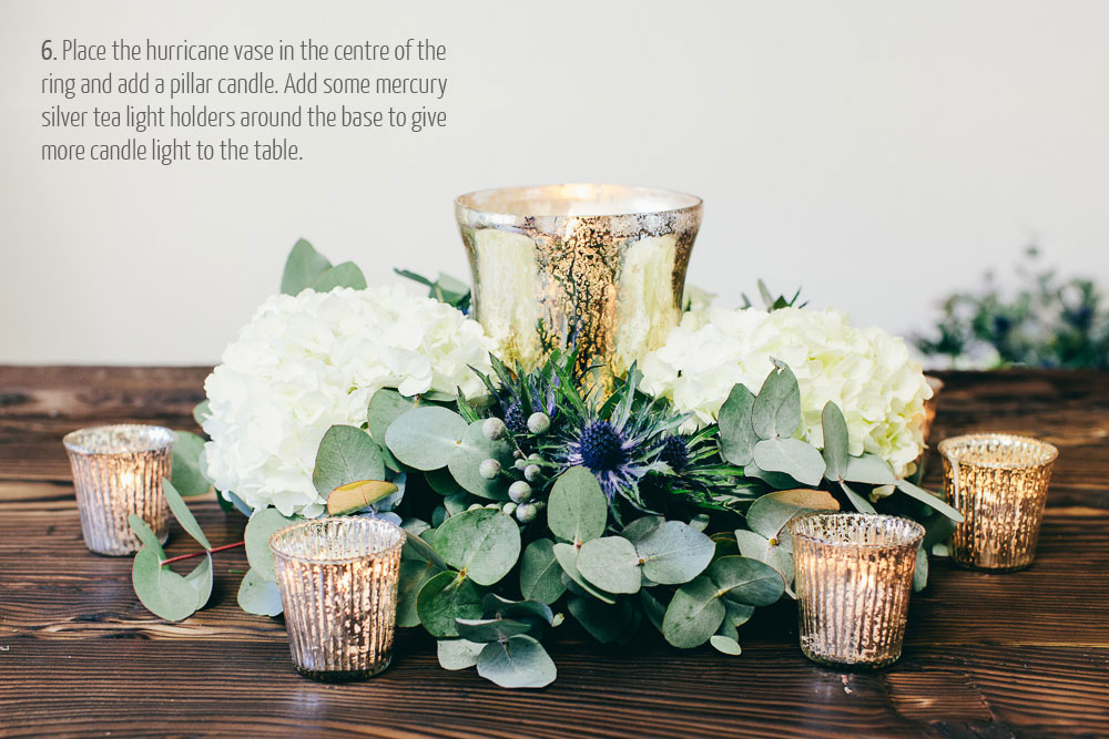 step by step guide how to make wedding centrepieces - rustic glamour (1)