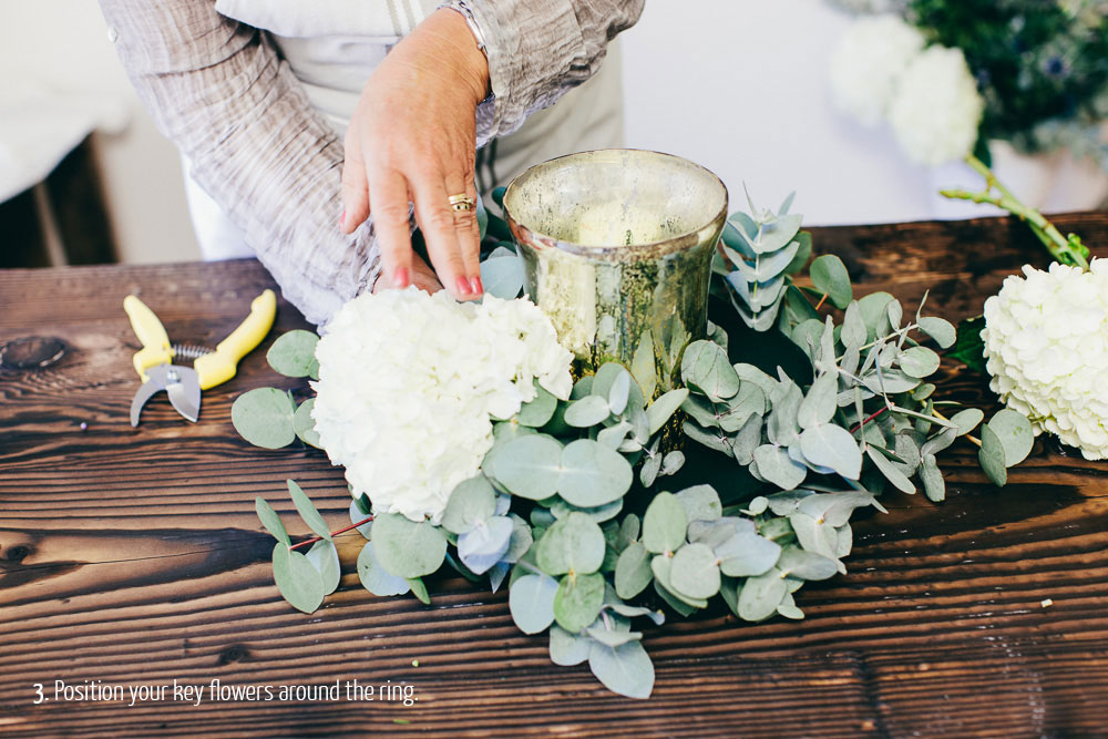 step by step guide how to make wedding centrepieces - rustic glamour (5)