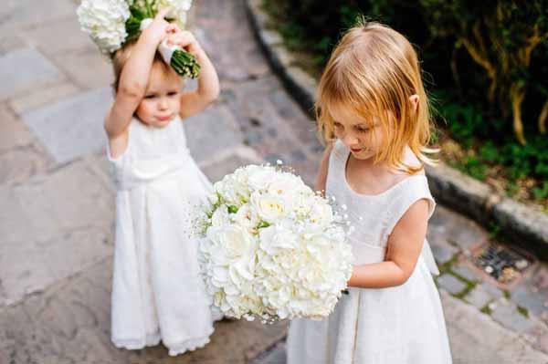 CREAM HYDRANGEAS CREAM ROSES WEDDING FLOWERS BOUQUETS