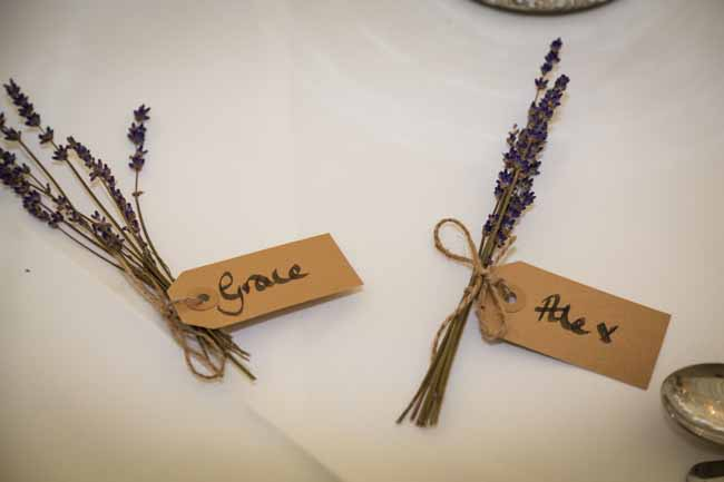 Lavender bunches for place settings