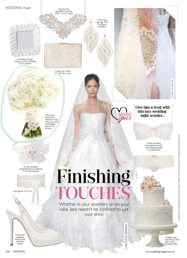Passion for Flowers featured in Wedding Flowers Magazine Feb 2015 (1)