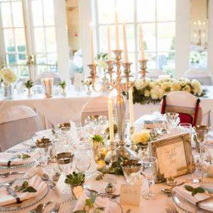 candelabra centrepieces warwick house wedding