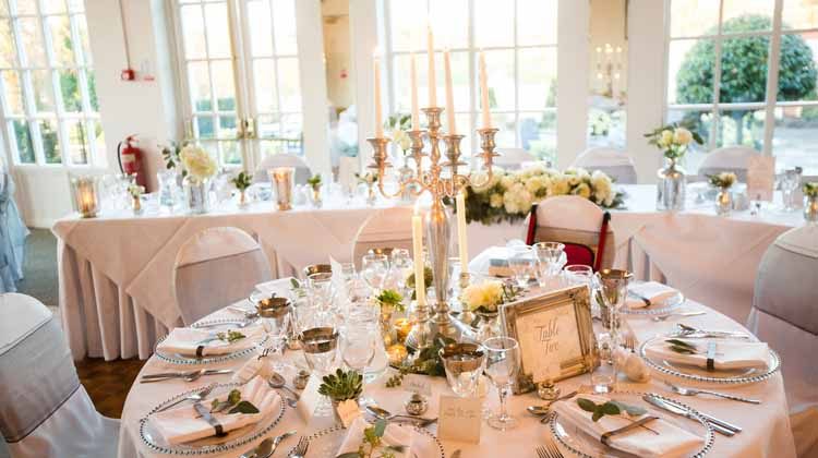 candelabra centrepieces warwick house wedding