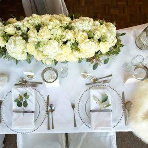 cream and green wedding flowers winter wedding warwick house