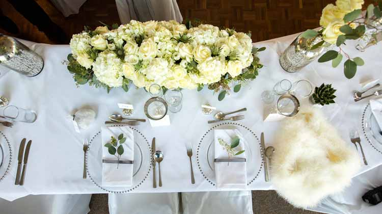 cream and green wedding flowers winter wedding warwick house