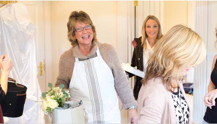 passion for flowers delivering wedding bouquets at warwick house