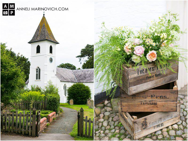Iscoyd-Park-Wedding-Flowers-flowers-in-wooden-crates-country-church