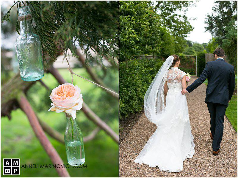 Iscoyd-Park-Wedding-Flowers-hanging-bottles