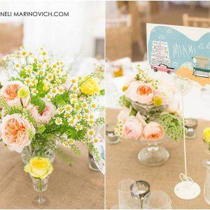 Iscoyd-Park-Wedding-Flowers-summer-daisy-peach-roses