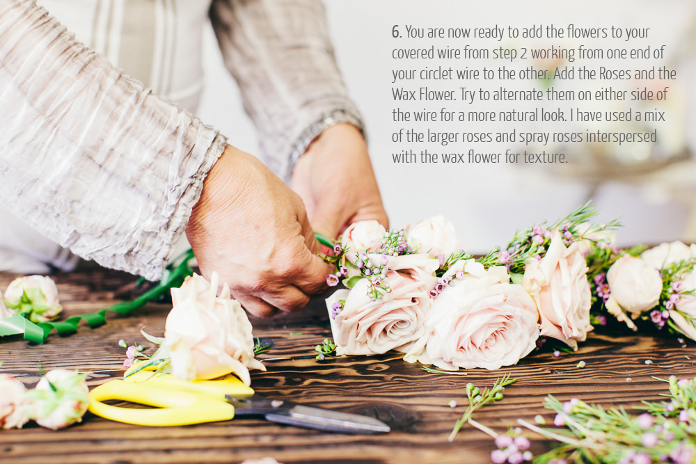 how to make a flower crown by Passion for Flowers