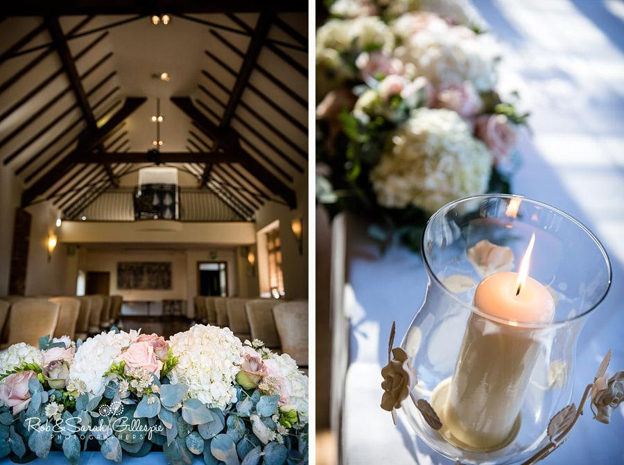 intimate wedding ceremony flowers nuthurst grange