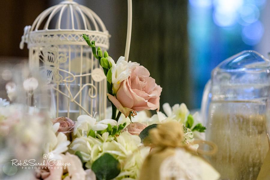 Nuthurst Grange wedding centrepieces