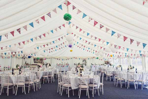 country garden wedding bunting