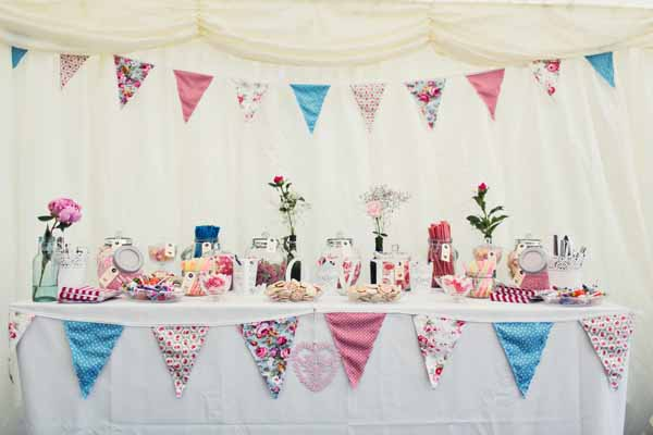 dessert table country garden marquee wedding