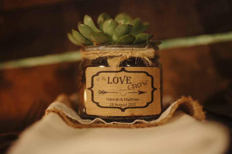 Hampton Manor Wedding Florist Passion for Flowers Let the love grow favours succulents