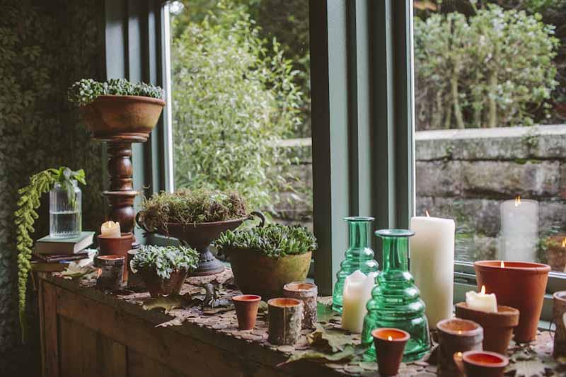 Rustic wedding flowers pots succulents urns Hampton Manor Wedding Florist Passion for Flowers (3)