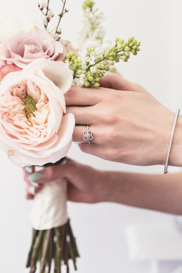 passion for flowers and de beers diamond rings