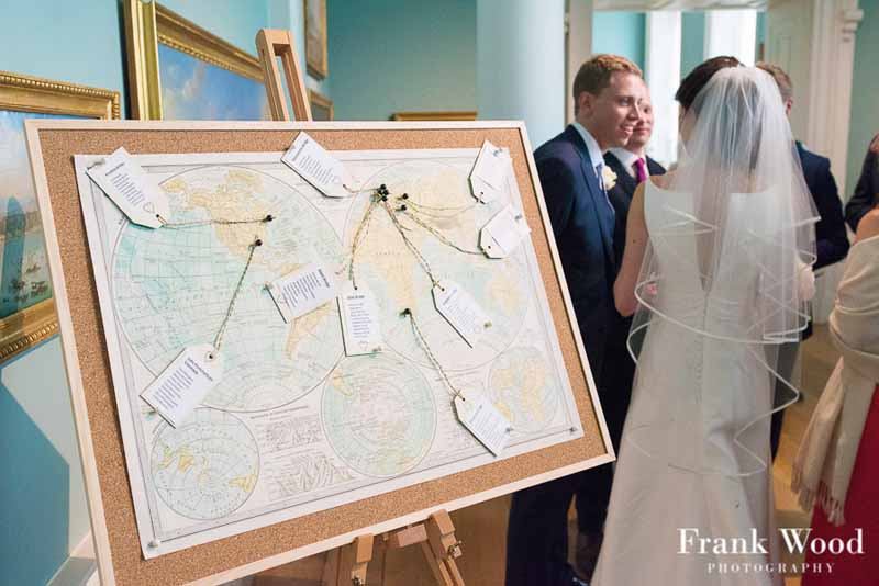Compton Verney Wedding Worl Map Wedding Table Plan