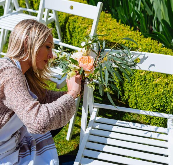 Passion for Flowers wedding set up Birtsmorton Court