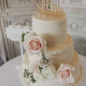 Wedding Cake Flowers on buttercream icing Roses Wax Flower Passion for Flowers