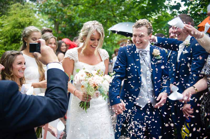 Confetti Throwing Hampton Manor Wedding Bouquet by Passion for Flowers