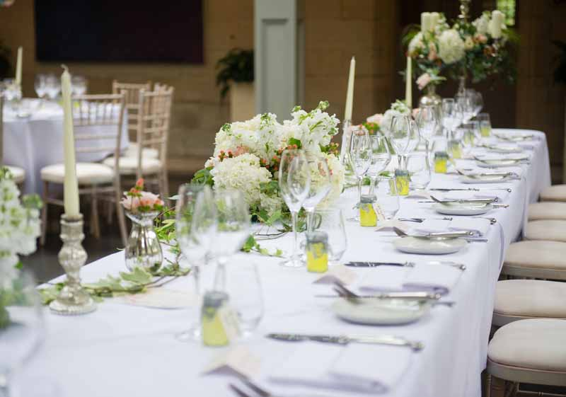 Long Top Table Wedding Flowers Hampton Manor Passion for Flowers