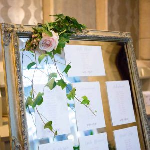 Mirror Table Plan with Floral Decorations Hampton Manor Wedding Flowers Passion for Flowers