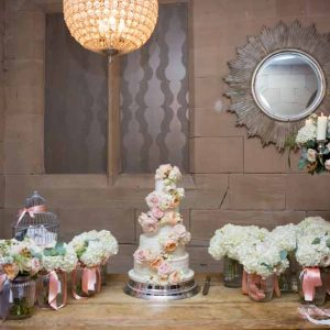 Wedding Cake Flowers Peach Roses Luxury Decoration Hampton Manor Wedding Flowers Passion for Flowers