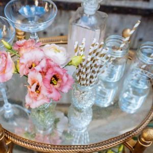 Add-flowers-to-your-drink-trolley-at-your-wedding.-By-Passion-for-Flowers